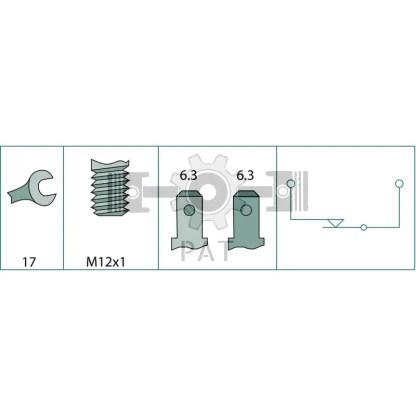 — 4556DF 003263001 — verbreekcontact,  draad M12 x 1,  SW 17 —