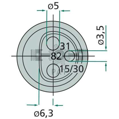 — 50751305635 — Kunststof, met vlakstekkeraansluiting, 12/24V, 2 x 25A. + 1 x 6A. 3-polig —