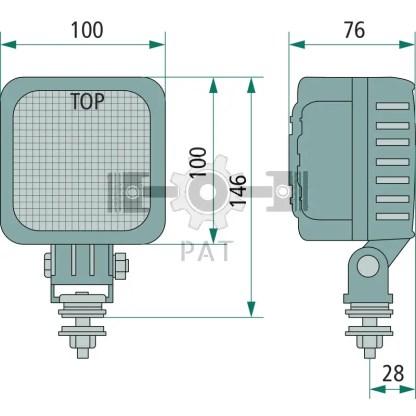 — 70799218 — Met beugelbevestiging, montage in iedere positie mogelijk. voor nabije verlichting, 6 Cree Highpower —