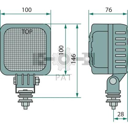 — 70799221 — 2500 Lumen, nominale sterkte 29W, spanningverzorging 12V-24V is 10-34 DC, kleurtemperatuur 5700-7000 —