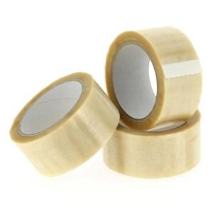 Verpakkingstape PVC transparant 66 Meter x 48/50 mm dikte 33u | Inpak tape | plekband.
