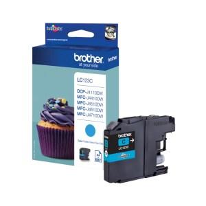 Brother LC-123C inktcartridge Origineel Cyaan 1 stuk(s) | Brother DCP-J172W/ MFC-J6520DW/ MFC-J6920DW/ DCP-J152W/ DCP-J132W/ DCP-J552DW/ MFC-J870DW/ D