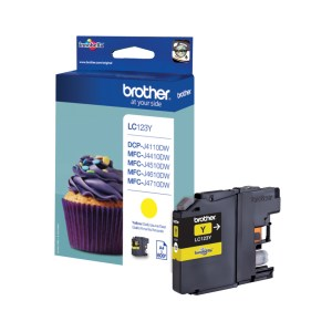 Brother LC-123Y inktcartridge Origineel Geel 1 stuk(s) | Brother DCP-J172W/ MFC-J6520DW/ MFC-J6920DW/ DCP-J152W/ DCP-J132W/ DCP-J552DW/ MFC-J870DW/ DC