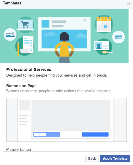 page facebook template services professionnels 1