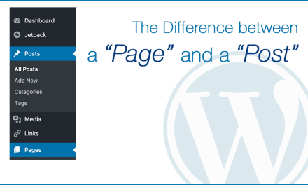 The Difference between a 'Post' vs. a 'Page'