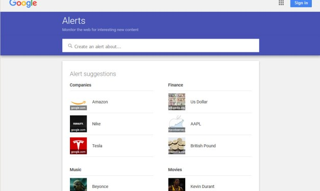 "How to Create a ""Google Alert"""