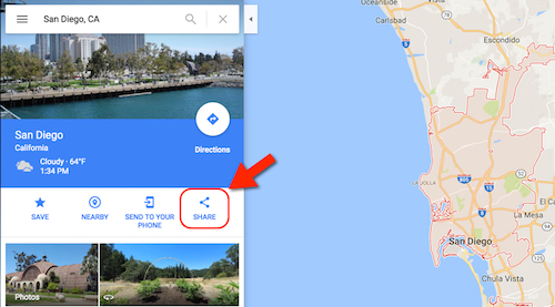 Click to Share to Embed a Google Map