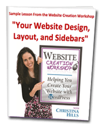 WordPress Sample Lesson – A Free Webinar with Christina Hills