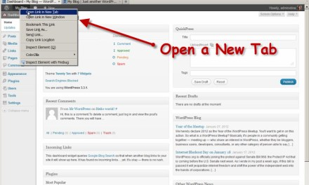 How to Do 'Tabbed Browsing' with WordPress