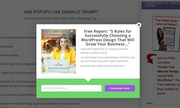 Are Popups Like Donald Trump?