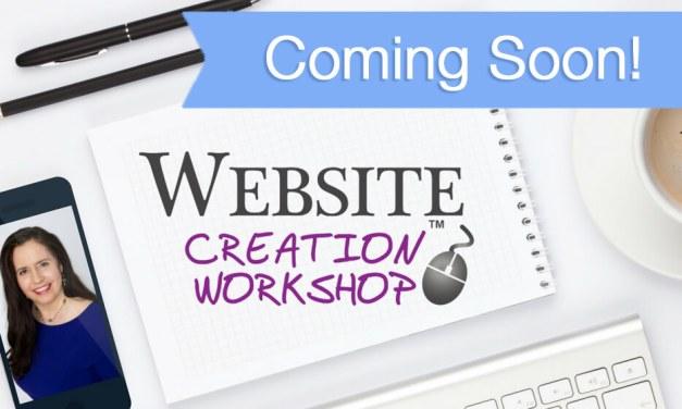 Coming Soon…Website Creation Workshop Winter 2017!