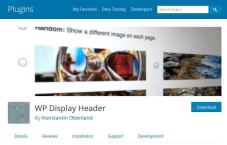 Rotating Header Images Plugin