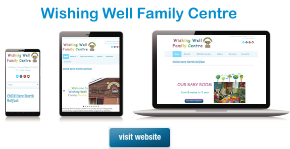 website design belfast - wishing well family centre website example