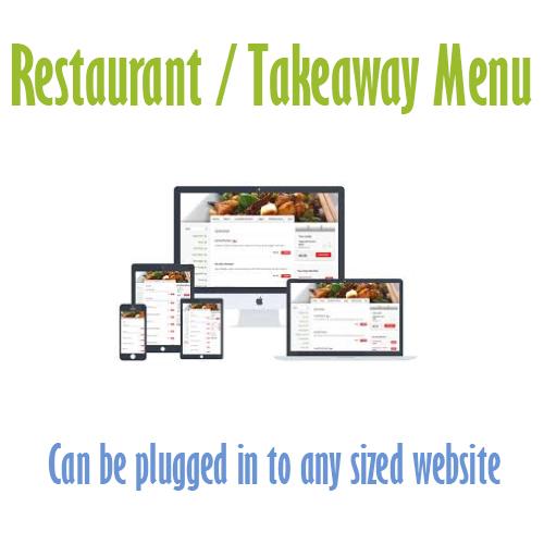 food menu plugin web design belfast