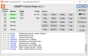 xampp control panel for wordpress