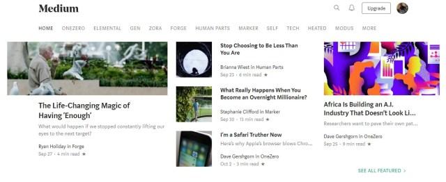 Best blogging platform - Medium