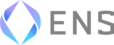 Logo for Ethereum Name Service has a stylized circle with ENS letters