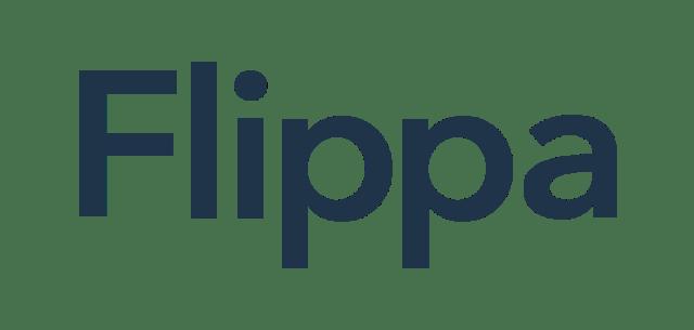 Logo for Flippa marketplace includes Flippa written in blue text