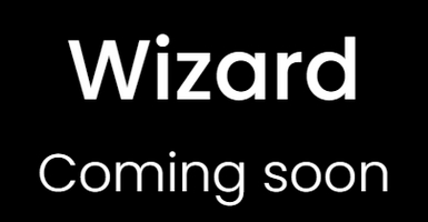 """Graphic of wizard.com with the words """"Wizard Coming Soon"""""""