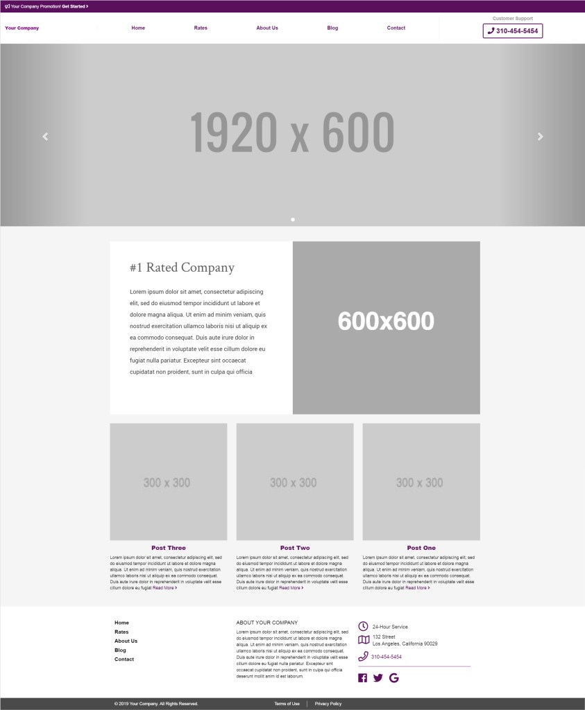 your company template