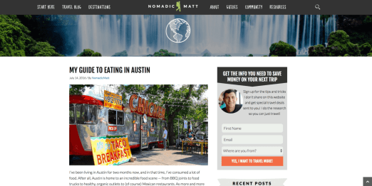 Example WordPress Blog #1