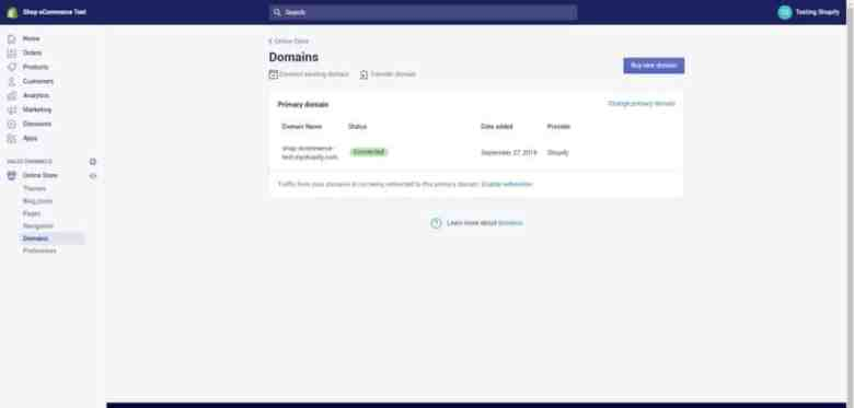 adding custom domains on shopify
