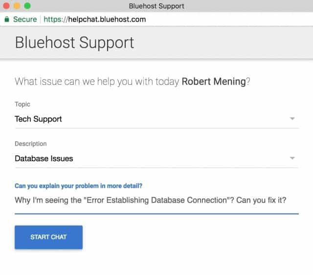 Contact hosting support - How to fix error establishing the database connection in WordPress