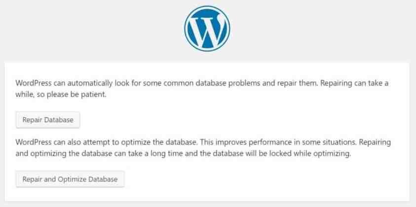 database repair