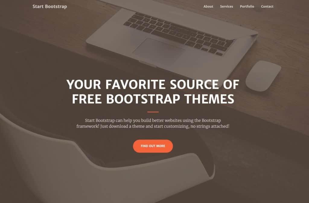 start bootstrap template