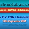Bise DG Khan Board FA FSC 12th Class annual Result 2015