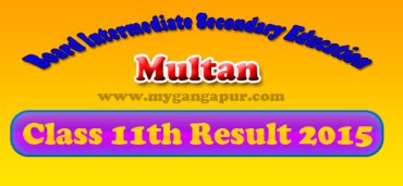 BISE Multan Board FA- FSc 11th Class Result 2015
