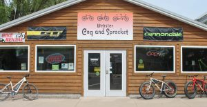 Burnett County's bicycle shop in Webster