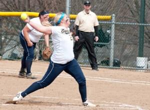 Webster University softball player Trisha Thompson