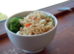 Vegan ramen soup with tofu requires only three ingredients. This recipe includes ramen noodles, tofu and vegetables. PHOTO BY VICTORIA CASWELL