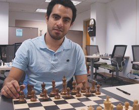 Grandmaster Manuel Hoyos traveled the world as a professional chess player before joining the Susan Polgar Institute for Chess Excellence at Webster University.
