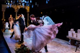 The brides dance with their grooms after being forced into arrange marriage in Big Love. CONTRIBUTED PHOTO