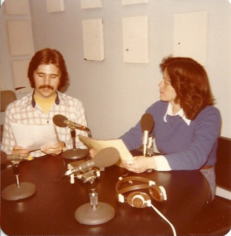 """Webster University adjunct Kent Martin (left) hosted the program """"All Things Considered"""" alongside Donna Townsend (right) on KBIA-FM, the NPR affiliate of Columbia, Mo. DONNA TOWNSEND / The Journal"""