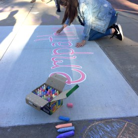 "Student Kara Overlien brings ""empathy"" to campus / Photo by Yue Zhang"