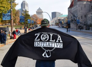 Photo Credit: Melina Iverson  The Zola Initiative celebrated veterans day by participating in the St. Louis Veteran's Day Parade.
