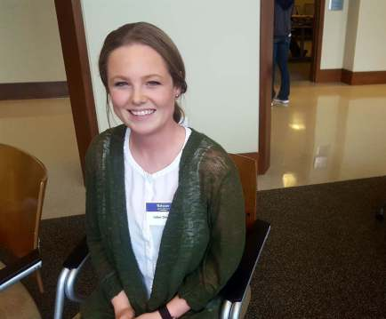Kelsey Donohue said she was excited for rising popularity of alternative schools. (Photo by Kristen Farrah)