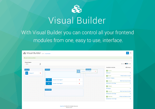 Visual Builder for Opencart 1