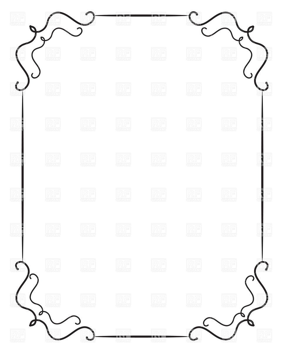 And Clip Theme White Art Borders 50s Black