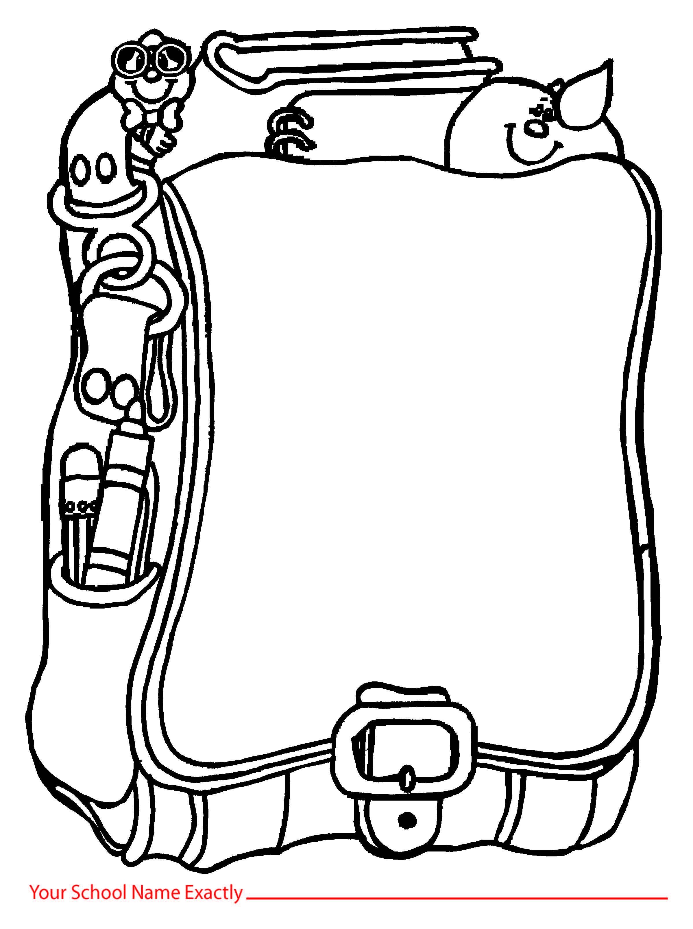 Backpack Clipart Outline Backpack Outline Transparent