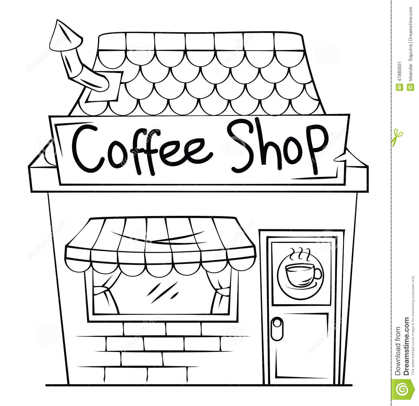 Shop Clipart Black And White Shop Black And White
