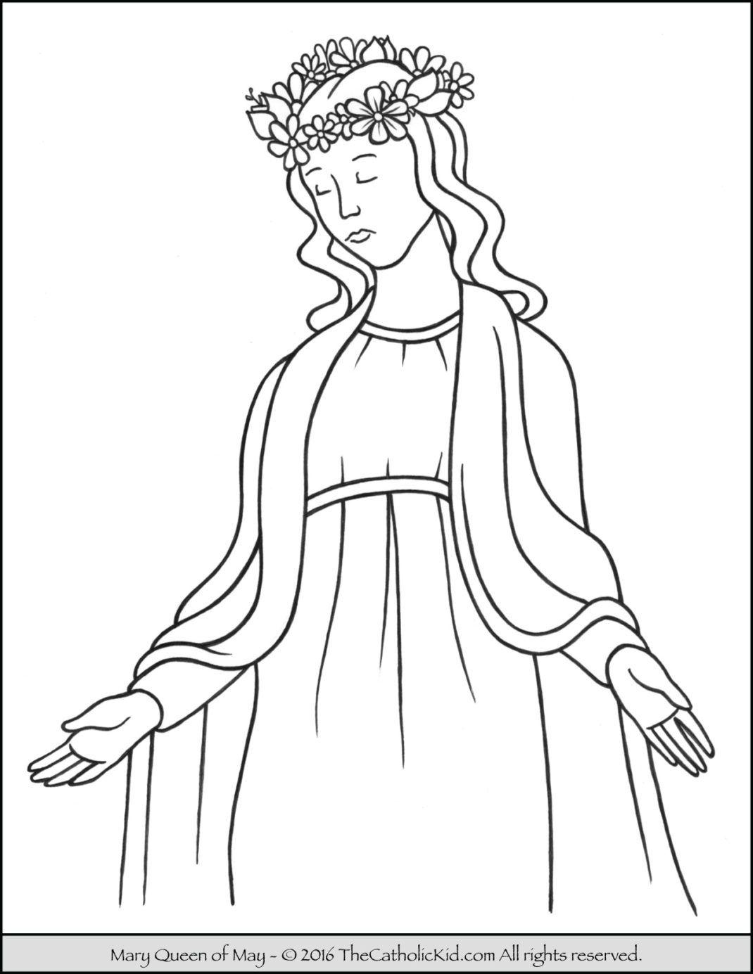 Catholic Clipart May Crowning Catholic May Crowning