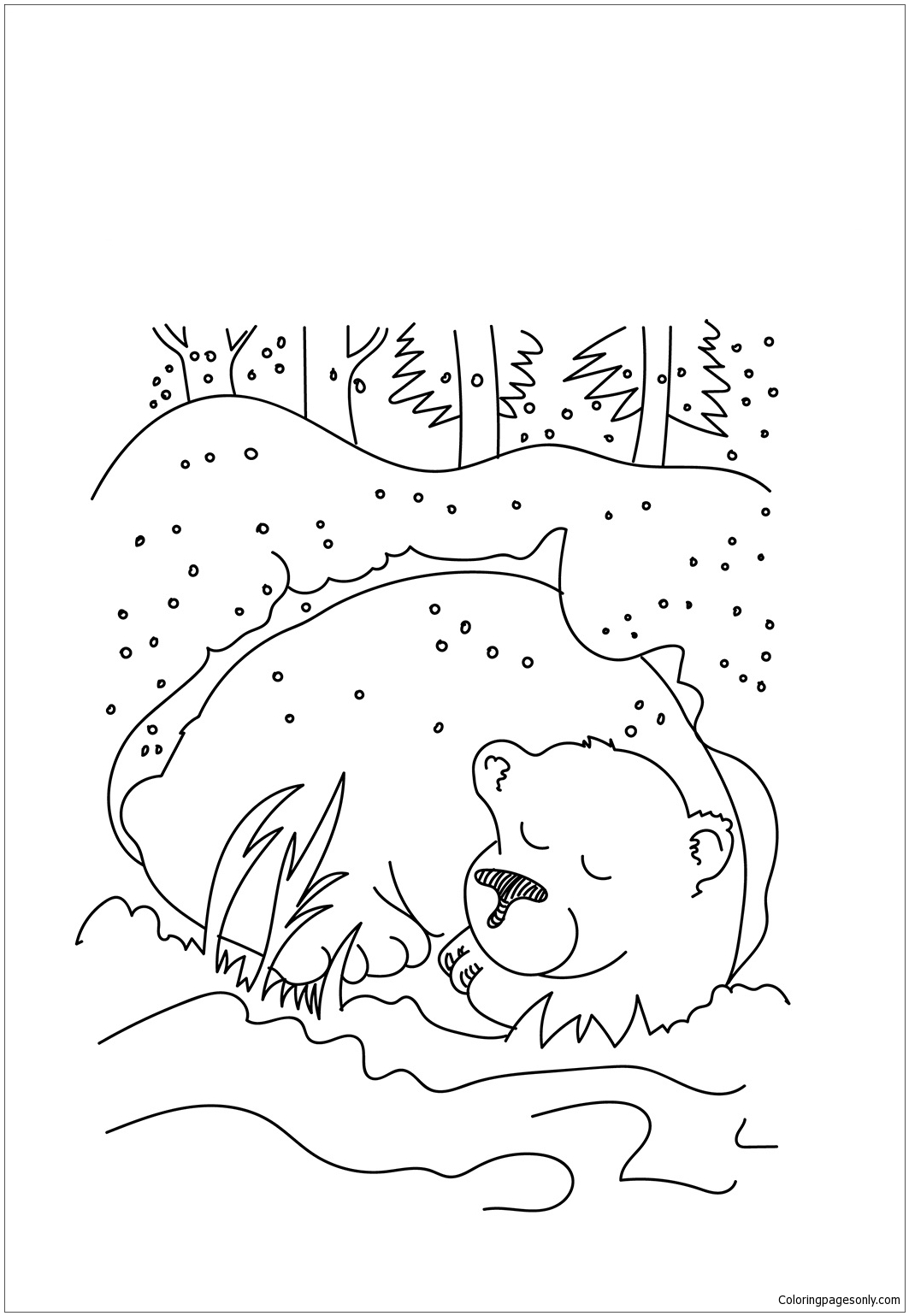 Cave Clipart Coloring Page Cave Coloring Page Transparent