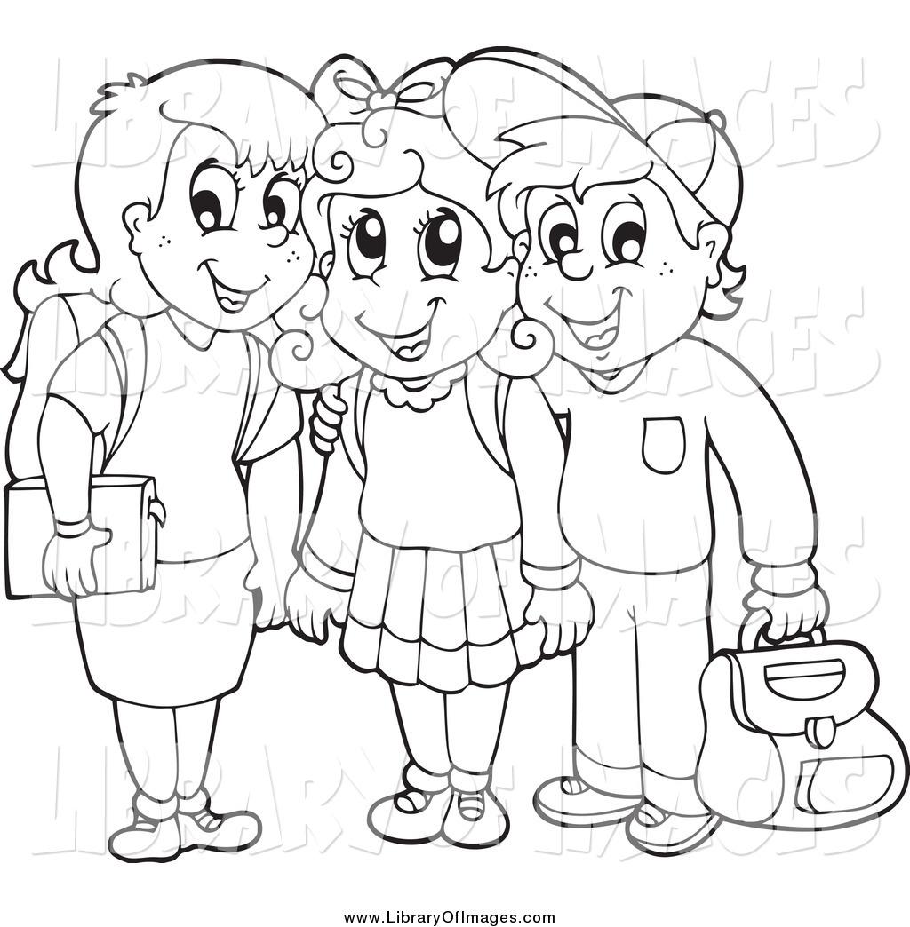 Children Clipart Outline Children Outline Transparent
