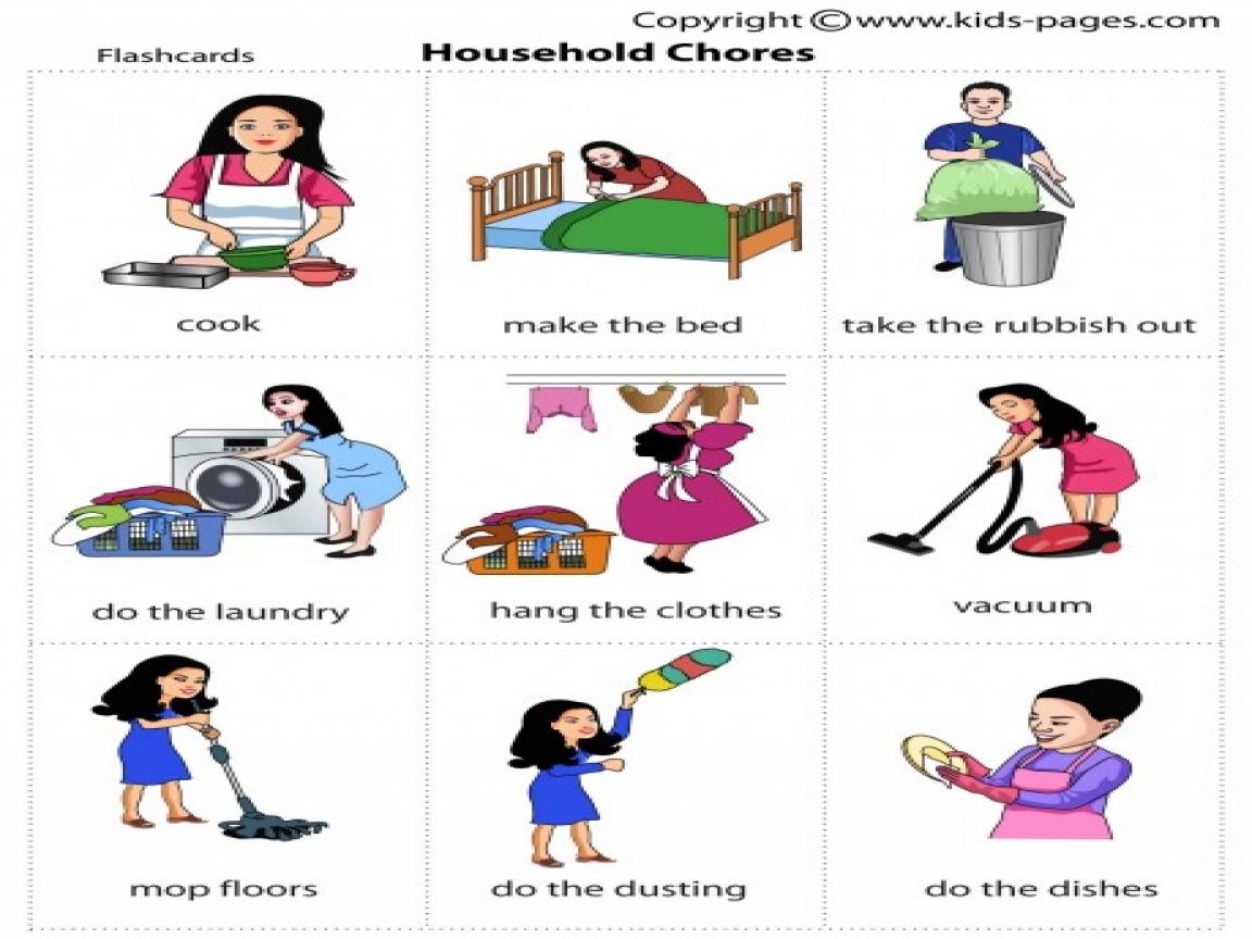 Chore Clipart Household Task Chore Household Task