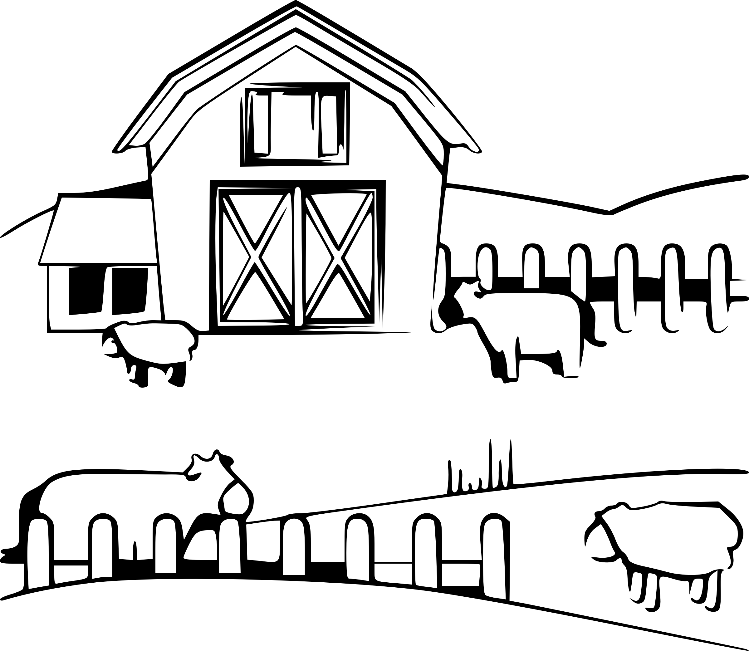 Farmers Clipart Black And White Farmers Black And White