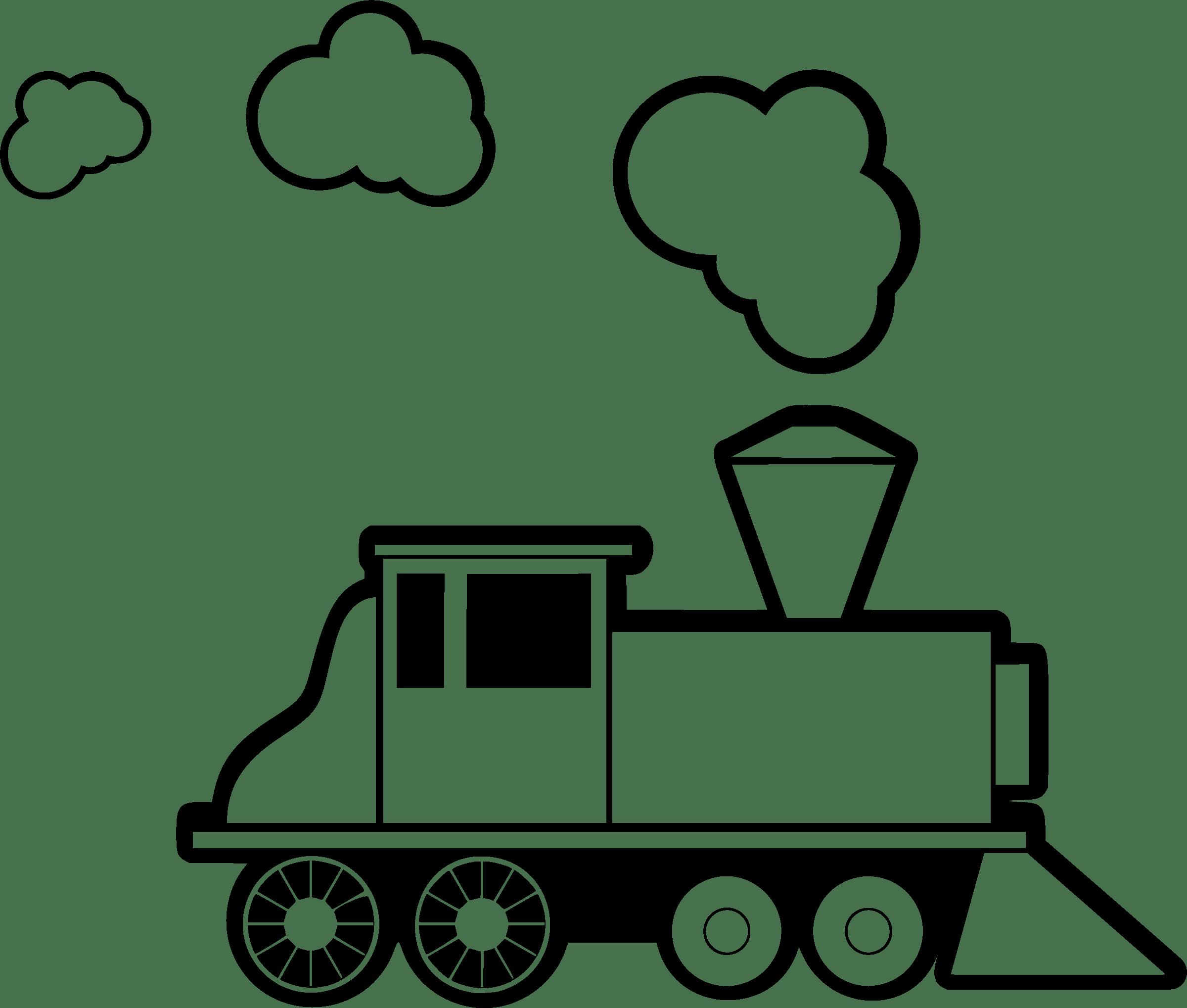 Coloring Clipart Train Coloring Train Transparent Free